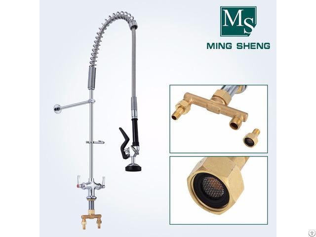 Wholesale Price Single Hole Deck Mount Kitchen Dishwasher Pre Rinse Unit Faucet