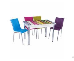 Extendable Glass Table Set
