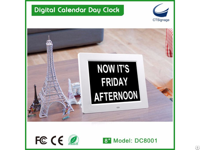 Digital Calendar Day Clock
