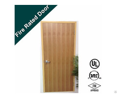 Laminate Surfcae 90 Mins Fire Rated Louvered Wooden Door 型号 Gh1708 20e