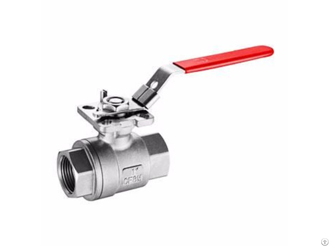 Cast Floating Ball Valve With Iso Direct Mount Pad