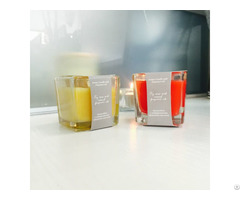 Popular Small Scented Square Glass Jar Candle D5 H5cm On Sale