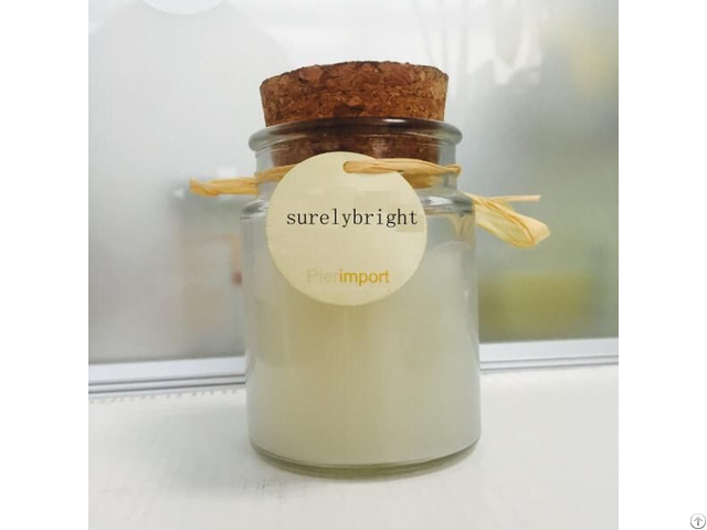 Popular Small Milk Shape Glass Jar Candle White Color On Sale
