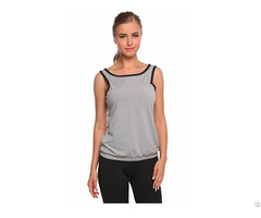 Womens Round Neck Cropped Racerback Tank Tops Running Vest