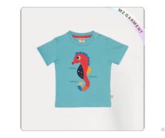 Boys Natural Sea Horse T Shirt