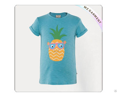 Girls Organic Benzo Blue T Shirt