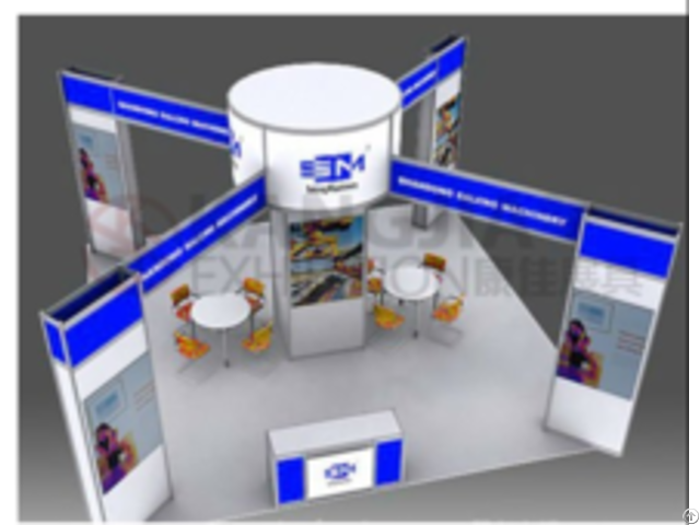 Easy Fair Stand 20x20 Custom Trade Show Aluminum Profile Exhibition Booth