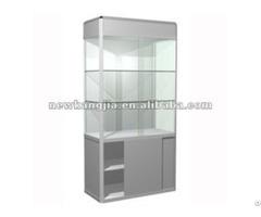 Portable Lockable Glass Showcase Cabinet