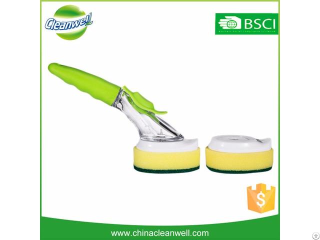 Soap Dispensing Sponge Dish Brush