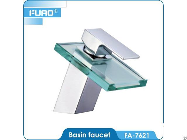 Bathroom Glass Waterfall Basin Faucet