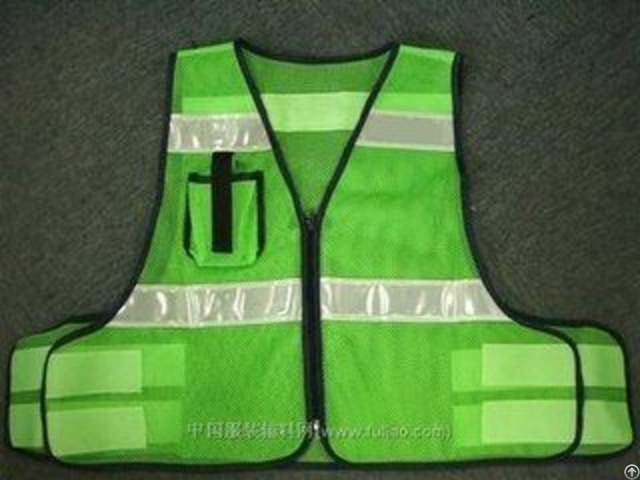 100%polyester Knitting Class2 Trrafic Reflective Safety Vest