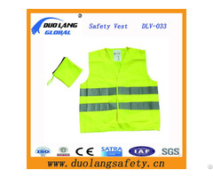 Visibility 100% Polyester Reflective Traffic Fabric Warning Safety Vest
