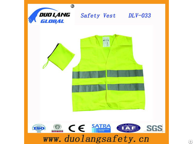 Visible 100% Polyester Reflective Traffic Fabric Warning Safety Vest