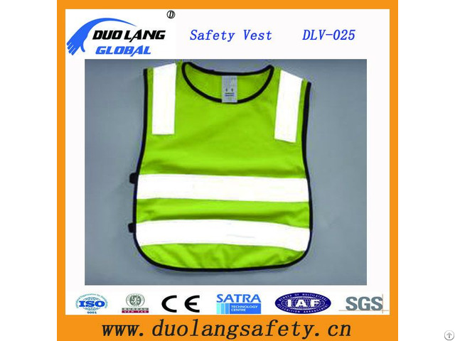 100% Polyester Mesh Fabric Fluorescent Pvc Safety Warning Police Vests
