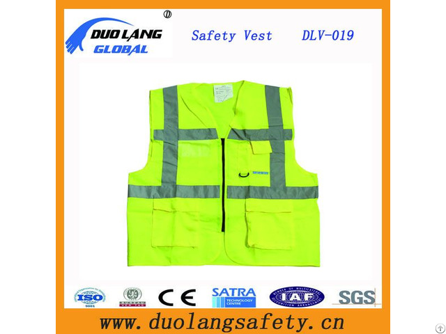 Lime Reflective Safety Warning Vest