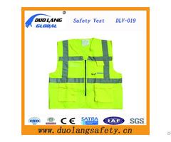 Lime Reflective Safety Warning Vest