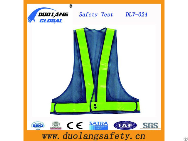 Polyester Safety Vest With Reflective Strip