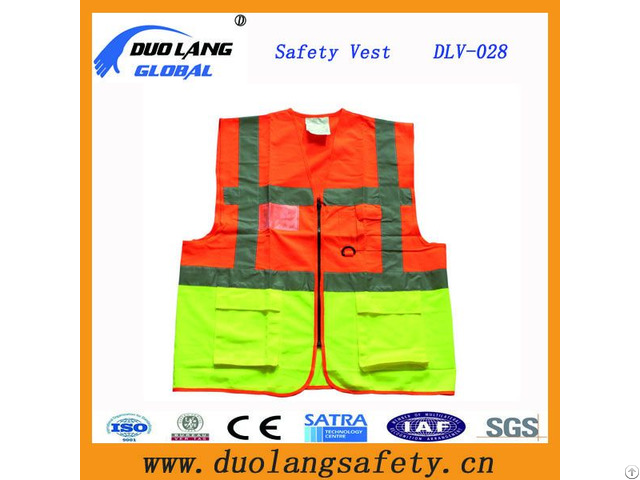 High Visible Reflective Safety Vest For Roadway