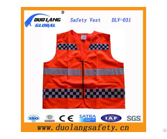 Visible 100% Polyester Reflective Traffic Mesh Fabric Warning Safety Vest