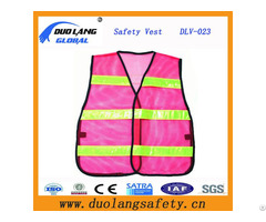 Polyester Mesh Traffic Warning Vest With Reflective Strip