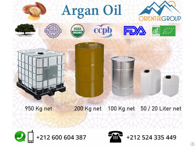 100% Pure And Organic Argan Oil In Bulk