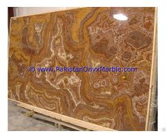 Pakistan Supplier Multi Brown Golden Onyx Slabs