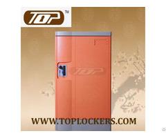 Triple Tier Storage Lockers Abs Plastic Orange Color