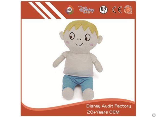 Boy Plush Animal Doll Custom Color Baby Embroidery Designs