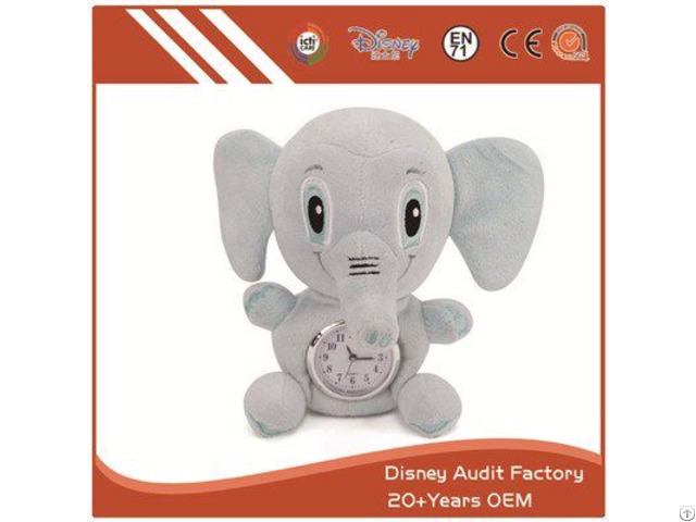 Elephant Toy Alarm Custom Color 20cm Filling 100% Pp Cotton