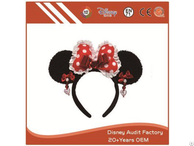 Plush Disney Minnie Mouse Headband 100% Pp Cotton
