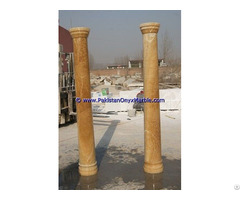 Honey Onyx Columns Handcraved Pillars Carved Top
