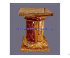 Multi Red Onyx Columns Handcraved Pillars Carved Top