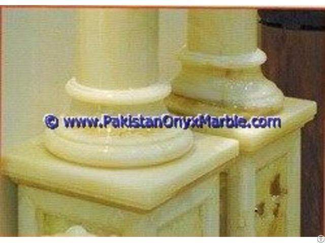 Onyx Columns Bases Designs Handcraved Pillars Carved Top