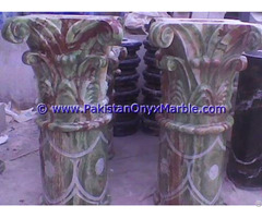 Onyx Columns Tops Designs Handcraved Pillars Carved Top