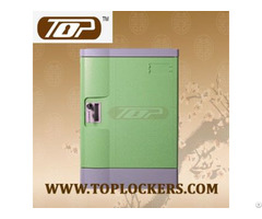 Four Tier Beach Lockers Abs Plastic Green Color
