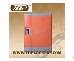 Four Tier Club Lockers Abs Plastic Orange Color