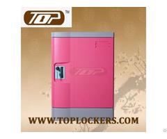 Four Tier School Lockers Abs Plastic Pink Color