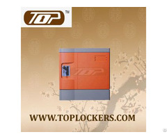 Six Tier Club Lockers Abs Plastic Orange Color