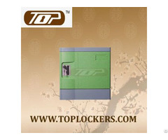 Six Tier Beach Lockers Abs Plastic Green Color