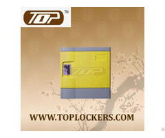 Six Tier Recyclable Lockers Abs Plastic Yellow Color
