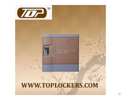 Six Tier Eco Friendly Plastic Lockers Coffee Color
