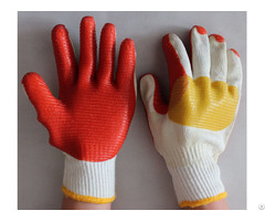 Rubber Safety Work Gloves