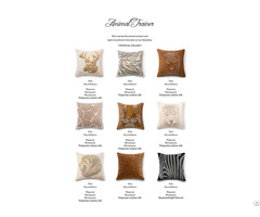 Rhinestone Cushion Pillow Cover (animal Design Series)