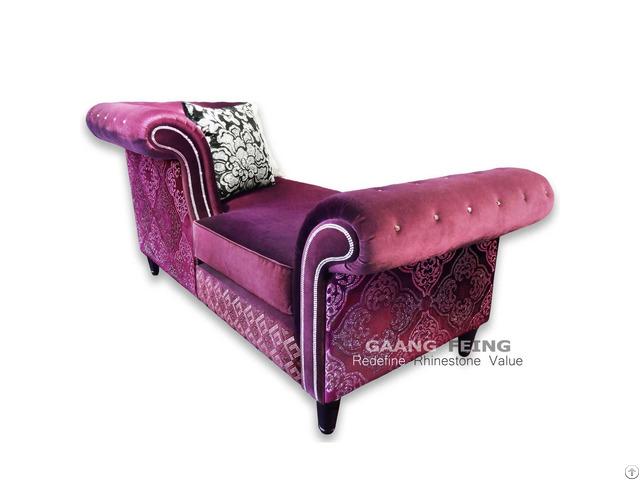 Rhinestone Sofa Chaise Longue