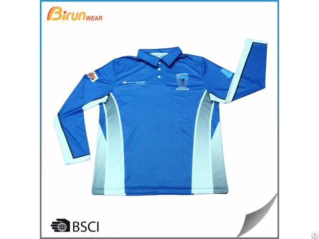 Custom Long Sleeve Mens Polo Shirts