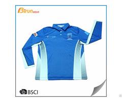 Custom Long Sleeve Mens Polo Shirts