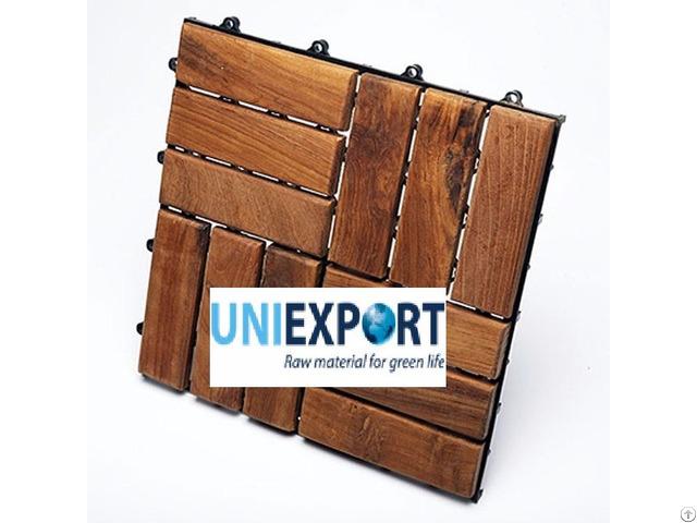 Natural And Beautiful Wood Deck Tile