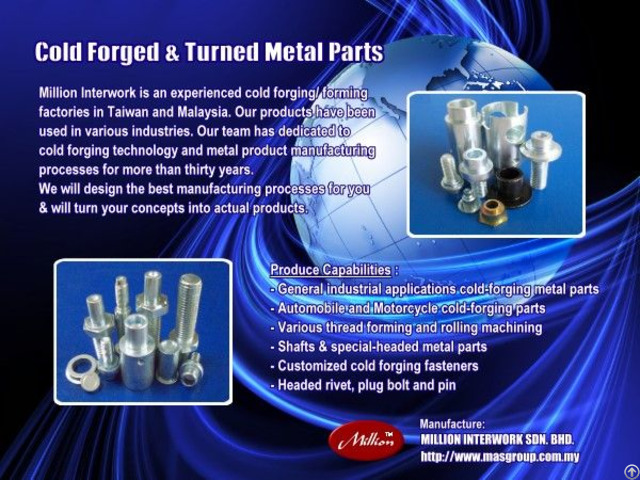 Cold Forged Autmotive Components And Motors Parts