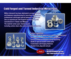 Specialty And Standard Industrial Fasteners Manufacturing