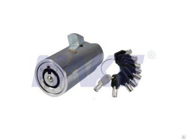 Zinc Alloy Vending Machine Plug Lock Shiny Chrome